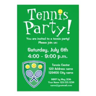 Tennis party invitations for Birthday or BBQ