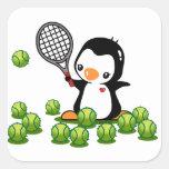 Tennis Penguin Sticker