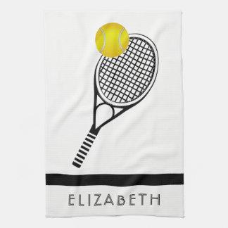 Tennis Personalised Name or Monogram Tea Towel