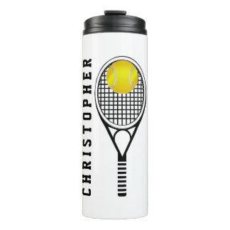 Tennis Personalised Name or Monogram Thermal Tumbler