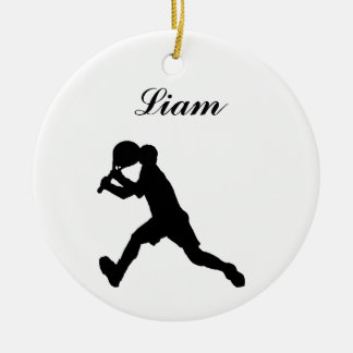 Tennis Personalized Christmas Ornament (male)