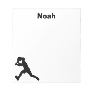 Tennis Personalized Notepad (male)