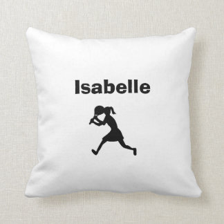 Tennis Personalized Pillow (female)