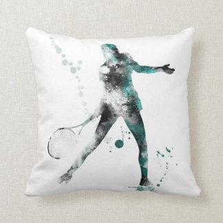 TENNIS PLAYER 3 - Throw Pillow