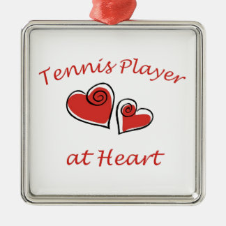 Tennis Player at Heart Christmas Ornaments