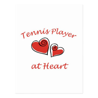 Tennis Player at Heart Postcards