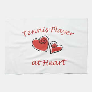 Tennis Player at Heart Tea Towel