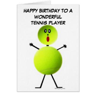 Tennis Player Birthday Greeting Card