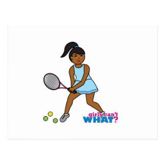 Tennis Player Girl - Dark Postcard