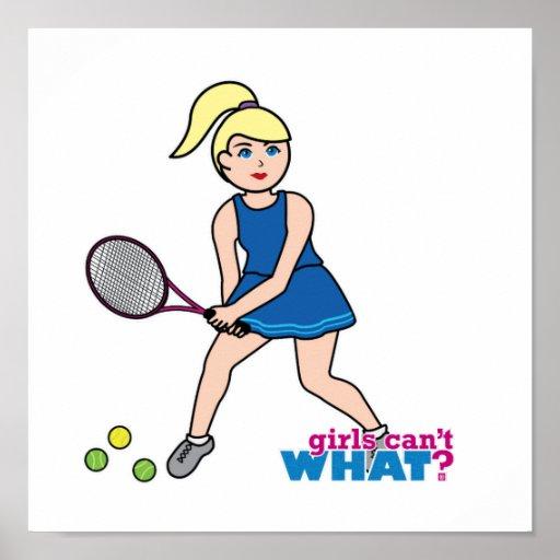 Tennis Player Girl - Light/Blonde Print