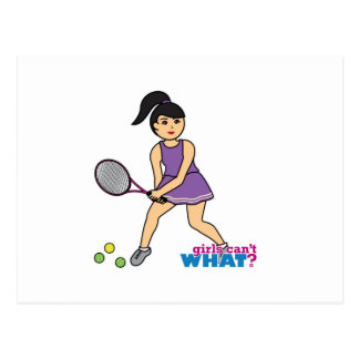 Tennis Player Girl - Medium Postcard