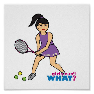 Tennis Player Girl - Medium Poster