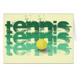 Tennis Player, Happy Birthday Card