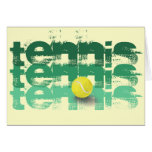 Tennis Player, Happy Birthday Greeting Card