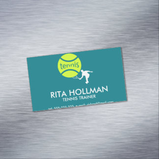 Tennis player magnetic business cards