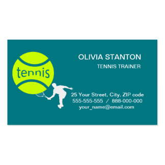 Tennis player pack of standard business cards