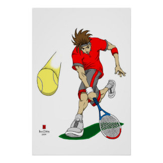 Tennis Player Poster