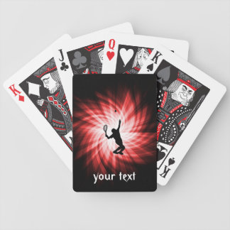 Tennis Player; Red Bicycle Playing Cards