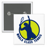 tennis player silhouette serving pin