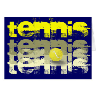 Tennis player tennis encouragement greeting card