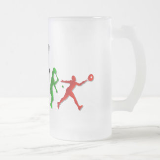 Tennis players Ball Tennis Coaches Sports Frosted Glass Mug