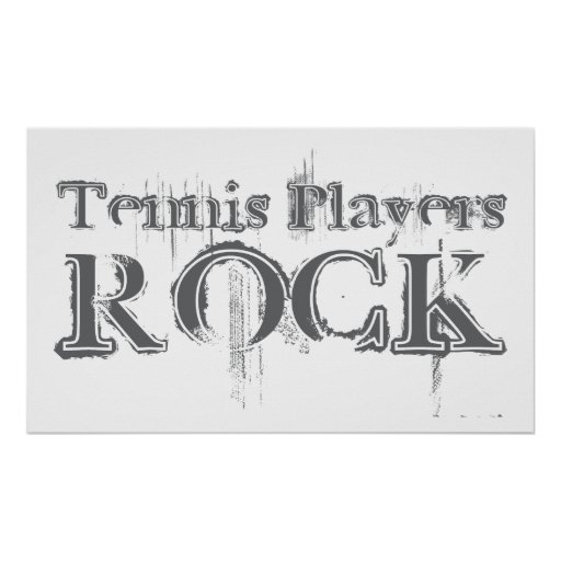 Tennis Players Rock Posters
