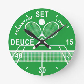 Tennis Players, Tennis Clock. Round Clock