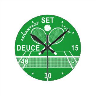 Tennis Players, Tennis Clock. Wallclocks