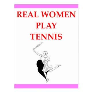 tennis postcard