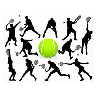 tennis postcards