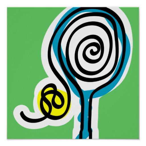 Tennis Poster with colorful design