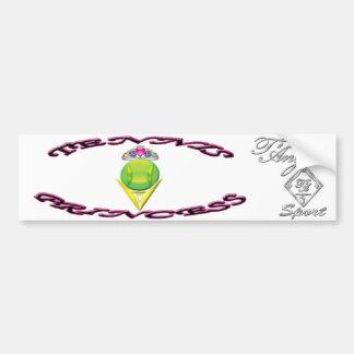 Tennis Princess Bumper Sticker Car Bumper Sticker