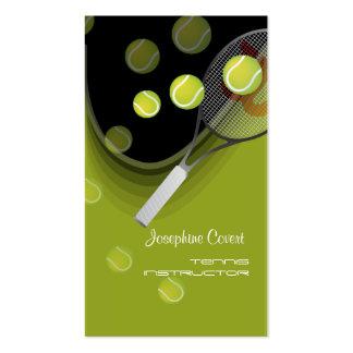 Tennis pro, tennis instructors business cards
