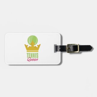 Tennis Queen Luggage Tag