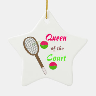 Tennis - Queen of the Court Christmas Ornament