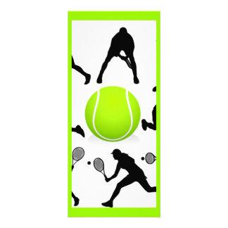 tennis customized rack card