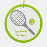 Tennis racket and ball custom
