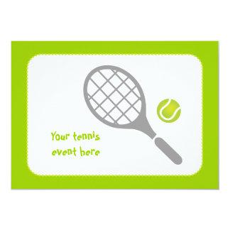 Tennis racket and ball custom 13 cm x 18 cm invitation card