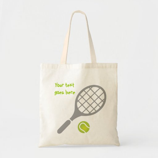 Tennis racket and ball custom canvas bags