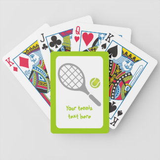 Tennis racket and ball custom bicycle playing cards