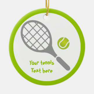 Tennis racket and ball custom christmas ornament