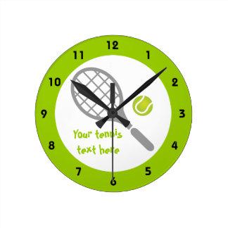 Tennis racket and ball custom clocks