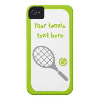 Tennis racket and ball custom iPhone 4 Case-Mate cases