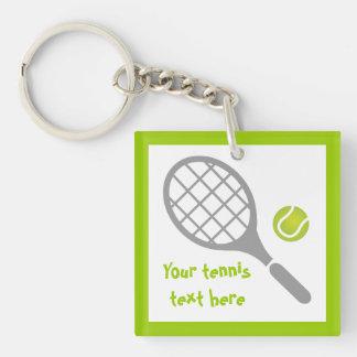 Tennis racket and ball custom key ring