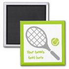 Tennis racket and ball custom magnet
