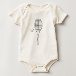 Tennis Racket and Ball Outline Creeper