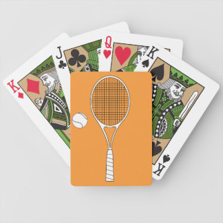 Tennis Racket and Ball Playing Cards
