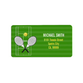 TENNIS RACKET LABEL