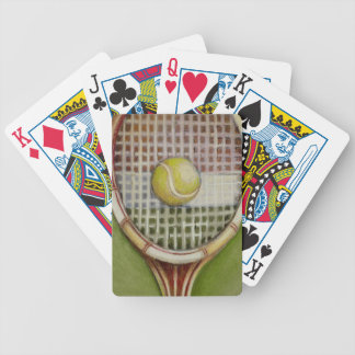 Tennis Racket with Ball Laying on Court Bicycle Playing Cards