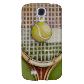 Tennis Racket with Ball Laying on Court Galaxy S4 Case